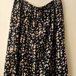 Tulip Print Maxi Skirt XL